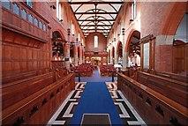 TQ2572 : St Luke, Ryfold Road, Wimbledon Park - West end by John Salmon