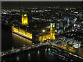 TQ3079 : Houses of Parliament from the London Eye at night by David Hawgood