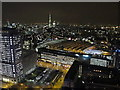 TQ3179 : Waterloo Station and the Shell Centre from London Eye by night by David Hawgood
