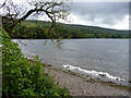 SD3197 : Wave breaking on edge of Coniston Water, Cumbria by Christine Matthews