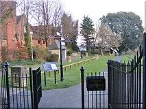 SP0343 : Abbey Park Gate by Gordon Griffiths