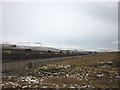 SD7974 : Train crossing Far Moor on the Settle Carlisle line south of Selside by Karl and Ali