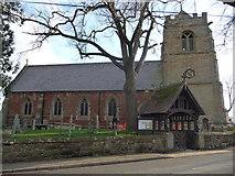 SJ4623 : Myddle parish church by Jeremy Bolwell