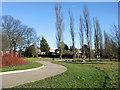 TQ3095 : Looking East in Oakwood Park, London N14 by Christine Matthews