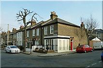 TQ4077 : Former corner shop, Furzefield and Lyveden Roads by Robin Webster