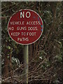ST0379 : Forbidding sign at Talygarn by John Finch