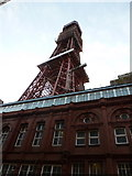 SD3036 : Blackpool: looking up at the Tower by Chris Downer