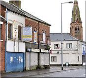 J3574 : Vacant shops, Ballymacarrett, Belfast (1) by Albert Bridge