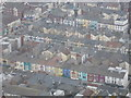 SD3035 : Blackpool: pastel frontages in Hull Road by Chris Downer