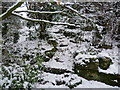 TQ4577 : Snowy steps in Rockliffe Gardens by Marathon