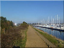 SZ3394 : Lymington, Solent Way by Mike Faherty