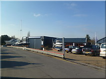 SZ3394 : Lymington, boatyard by Mike Faherty