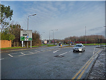 ST6677 : Lyde Green Roundabout by John Allan
