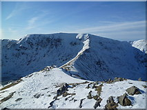 NY3415 : Helvellyn from Catstye Cam by Michael Graham