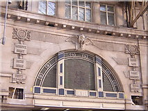 TQ3179 : Waterloo Station: entrance archway showing destinations served by Christopher Hilton