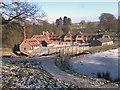 SJ9682 : Lyme Park, Timber Yard by David Dixon