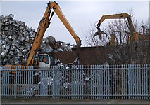SU1686 : Metal recycling at the EMR scrap yard, Gipsy Lane by Vieve Forward