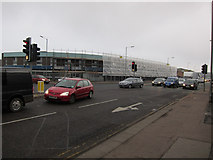 TL4658 : Demolition in progress, Newmarket Road by Hugh Venables