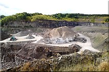 SK2265 : Shining Bank Quarry, between Bakewell and Youlgreave, Derbyshire by Chris Morgan