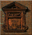 TQ2883 : Elaborate date plaque, Greenland Road, Camden Town by Jim Osley