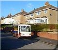 SO3015 : Milk float, Llwynu Lane, Abergavenny by Jaggery