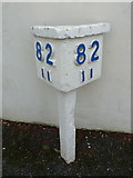 SU3613 : Totton: 82½-mile marker at the station by Chris Downer