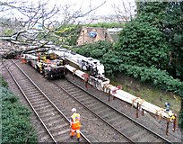 SK8508 : Rail Action at Oakham 05:Crane jib by Andrew Tatlow