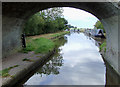 SJ7725 : Moorings by Bullock's Bridge near High Offley, Shropshire by Roger  Kidd
