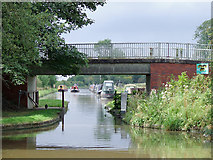 SJ7626 : Shebdon Bridge south-east of Knighton, Staffordshire by Roger  Kidd