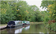 SJ7526 : Moorings by the pub at Shebdon, Staffordshire by Roger  Kidd