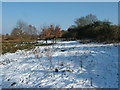 TM4274 : Well walked footpath in the snow by John Goldsmith