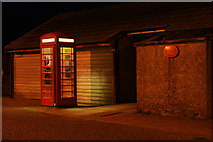 HP6208 : Baltasound Post Office at night by Mike Pennington