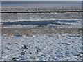 TF4034 : The Wash coast in winter - White salt marsh by Richard Humphrey