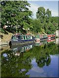 SJ8512 : Canal moorings near Wheaton Aston, Staffordshire by Roger  Kidd