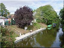 SJ8512 : Wharf by Turner's Garage at  Wheaton Aston, Staffordshire by Roger  Kidd