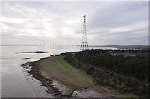 ST5590 : Severn Bridge : River Severn & Beachley by Lewis Clarke