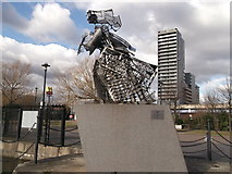TQ3880 : Figurehead for Docklands, Poplar Dock (2) by David Anstiss