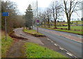 ST4191 : Parking area alongside the A48, Penhow by Jaggery