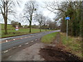 ST4191 : Cycleway resumes on the north side of the A48, Penhow by Jaggery