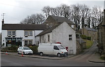 SK2276 : Eyam Tea Rooms and houses on Lydgate by Andrew Hill