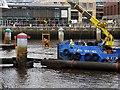NZ2563 : 'Forth Sentinel' at Gateshead Millennium Bridge by Andrew Curtis