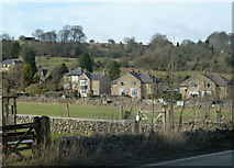 SK2375 : Houses near Stoney Middleton by Andrew Hill