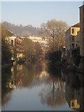 ST7565 : River Avon north of Pulteney Bridge by Derek Harper