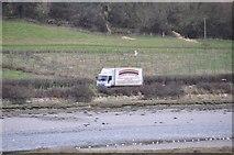 SY2591 : East Devon : Van on Axmouth Road by Lewis Clarke