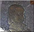 TQ7842 : Brass detail,  Walter Mayney's  wife, All Saints' church by Julian P Guffogg