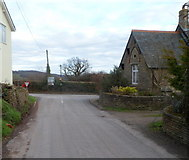 SO4024 : Road from Abergavenny reaches Grosmont by Jaggery
