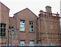 SO9596 : Bilston Technical School (detail), Wolverhampton by Roger  Kidd
