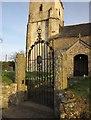 SS6202 : Gate, St Mary's church, Honeychurch by Derek Harper