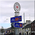 C9703 : National Cycle Network signs, Portglenone by Rossographer