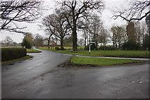SJ8369 : Blackden Lane/Colshaw Lane/ Chapel Lane junction Siddington by Peter Turner